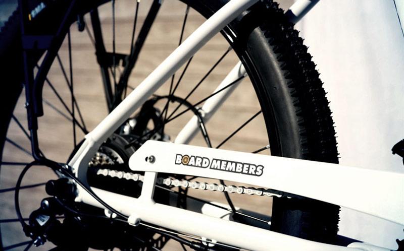 Board Members electric bike wheel closeup